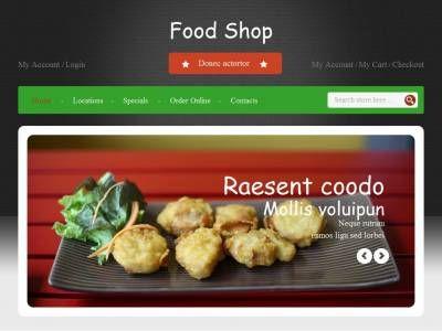 Шаблон блога магазина по продаже разнообразных блюд, адаптивный макет Bootstrap 3, несколько готовых страниц в комплекте.
