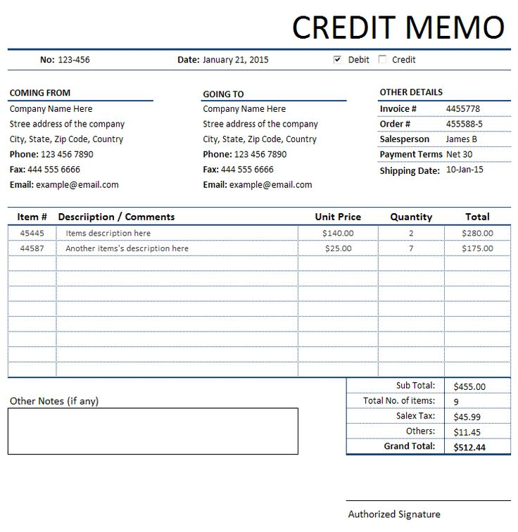 11 best Bills, Invoices and Receipts images on Pinterest - credit memo templates