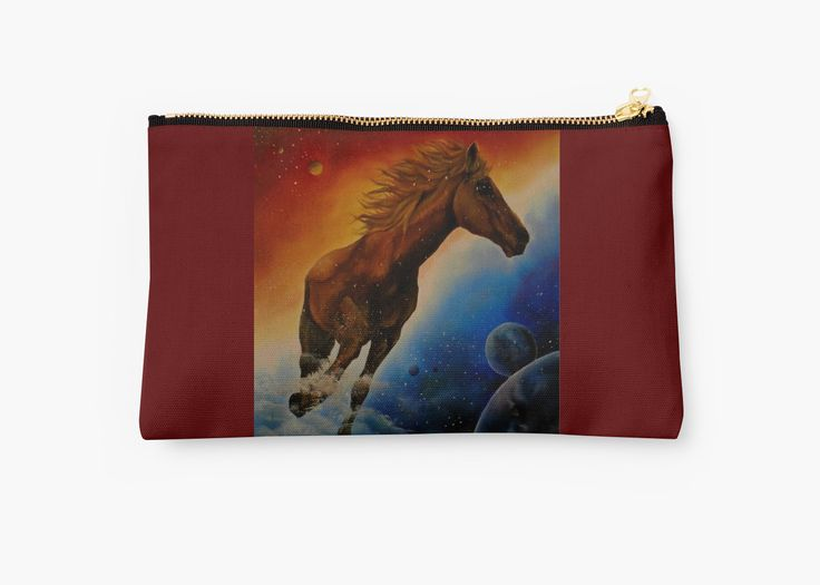 Studio Pouch,  cool,beautiful,fancy,unique,trendy,artistic,awesome,fahionable,unusual,accessories,for sale,design,items,products,gifts,presents,ideas,carry all pouch,colorful,horse,redbubble