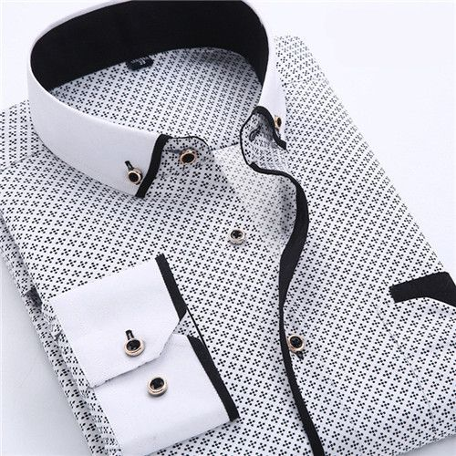 uk style dot dress shirt darts