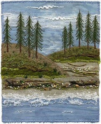 Embroidery...visit this site the work is fantastic! This would look cute in a crazy quilt :)