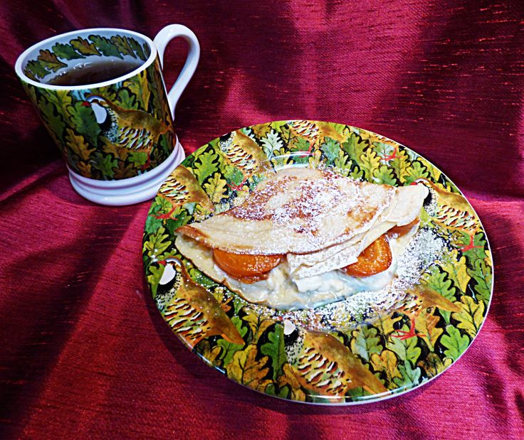 pancake with mascarpone and apricots #MapleVLemon