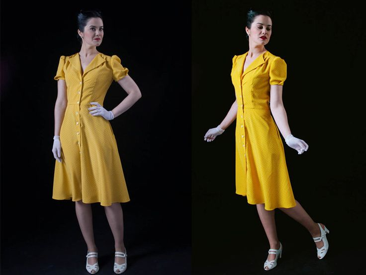 1940s style Yellow Dress / Polka dot / Tea dress / Swing dress by GreenofGrey on Etsy https://www.etsy.com/listing/268740560/1940s-style-yellow-dress-polka-dot-tea