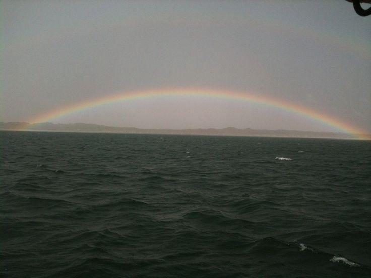 Double ended rainbow #moretonbay #moretonisland