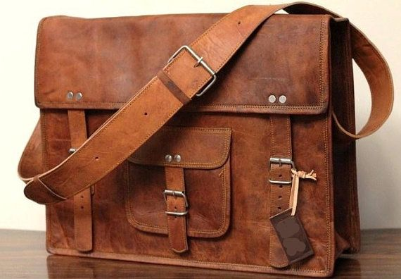 d7a2faf26b Leather School Bag Cum Messenger Bag   Satchel - Vintage Retro Looking
