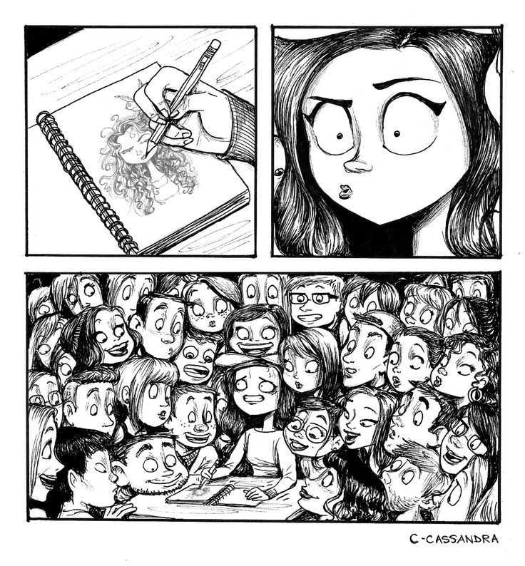 The reality of any artist sketching in public