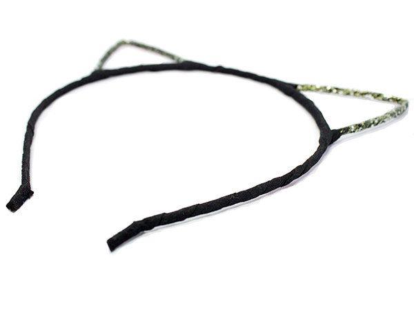 Girls Cat Ears Headband: Black K1020 by KorkeKids on Etsy