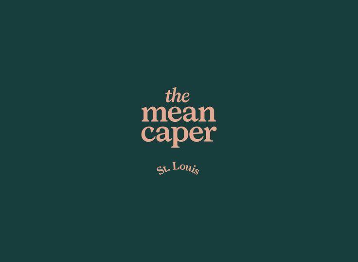 The Mean Caper wordmark by Brandon Nickerson using Larish Neue