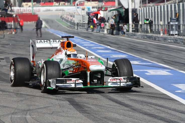 Adrian Sutil, Force India, Circuit de Catalunya, 2013 - F1 Fanatic