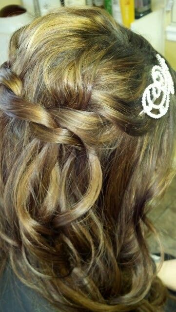 Loose Braid half up with head band