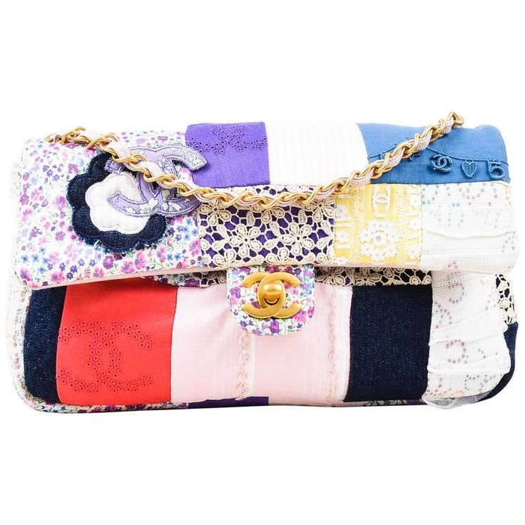 """Chanel New with Tag Pink Multicolor GHW """"Fabric Patchwork Medium Flap"""" Bag 1"""