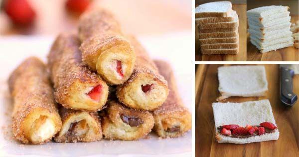 Francúzske rolky sú ideálnou voľbou na sladké raňajky alebo ako skvelý dezert na spríjemnenie popoludňajšej siesty. Recept, jahody, nutella, z toustu
