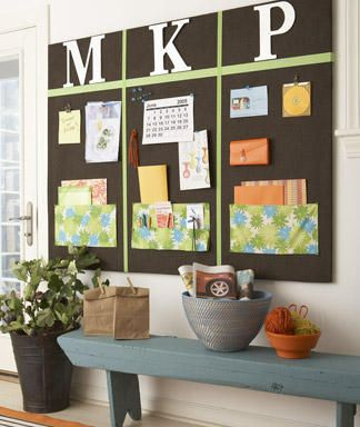 Organized Style: Family Bulletin Board - Barbara Gilbert Interiors