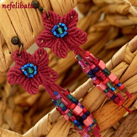 Flower Child in Crimson ° boho ° boho chic ° boheme ° hippies ° gypsy ° ethno ° jewelry ° freedom ° joy ° handmade