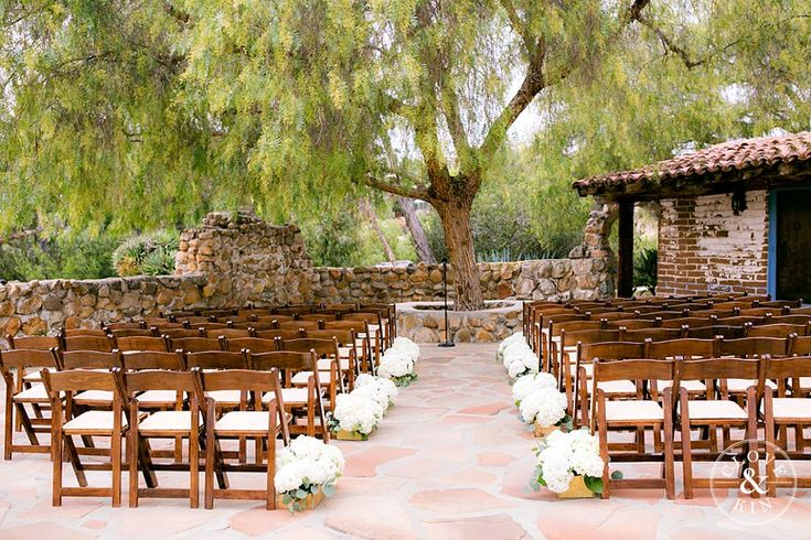 Beautiful garden setting for ceremony.   Leo Carrillo Ranch Wedding | Megan and Tracy   Photography by Clove & Kin | View More: http://cloveandkin.com/blog/leo-carrillo-ranch-wedding-megan-tracy/