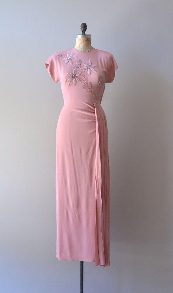 розовое платье 30-е