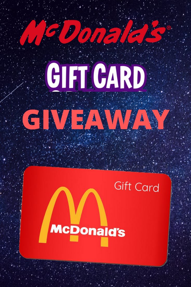 Free mcdonalds gift card giveaway 2019 in 2020