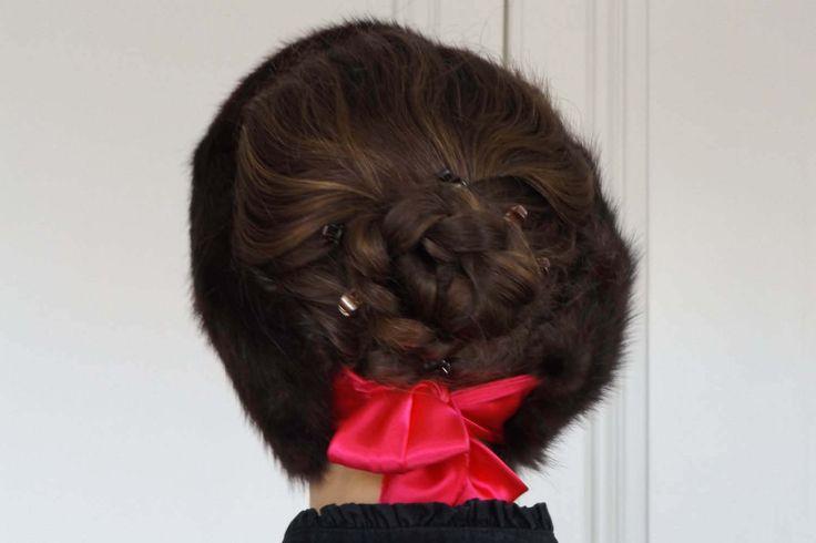 Tour de cou/Col/Echarpe/Cache-cou/Headband/Bandeau /Real fur Vraie fourrure Canada Québec Rat musqué/Muskrat/foulard soie couleur au choix de la boutique FourruresduQuebec sur Etsy