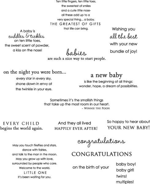 Inside & Out: Baby Stamp Set from Papertrey Ink....