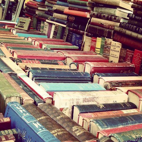 "Vintage books at Portobello Road Market, London, England. ""Portobello Road Street where the riches of ages are sold!"""