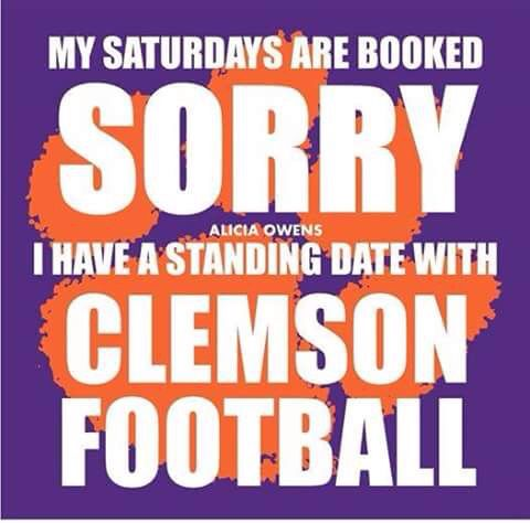 Clemson baby!                                                                                                                                                                                 More