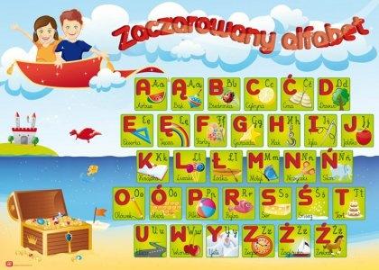 Plakat dla dzieci do nauki czytania i pisania (proj. margot)
