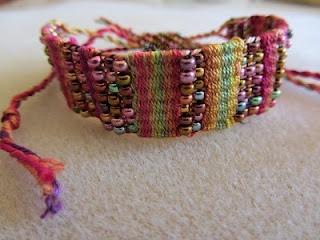 Pärlvävning med fiber