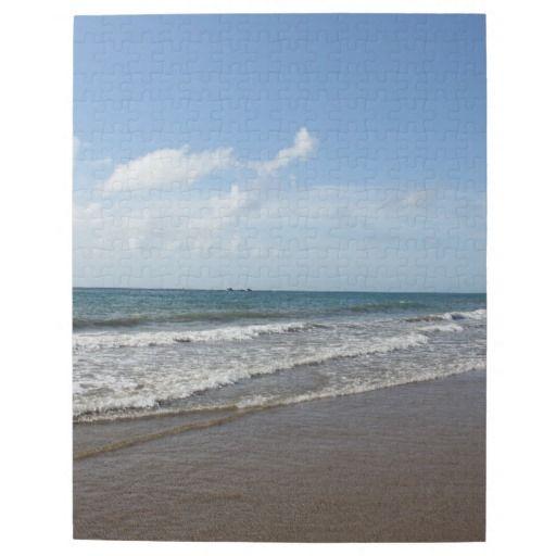 Tropisches Paradies-karibischer Strand auf Tobago Foto Puzzles #zazzle #Geschenkidee