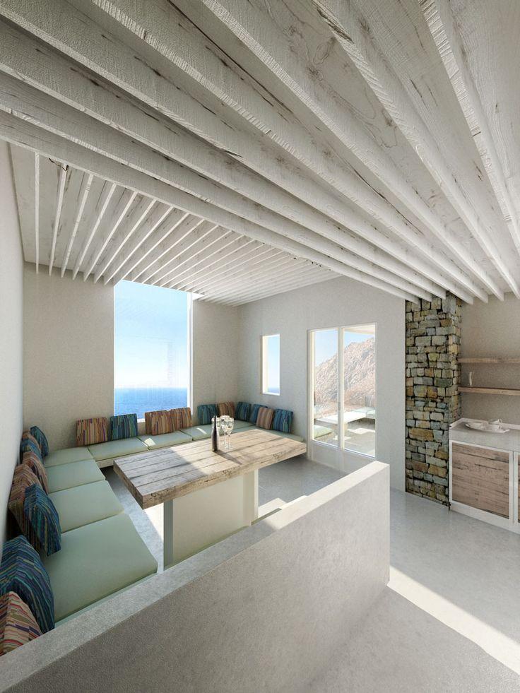 Modern Greek island home or hotel villa