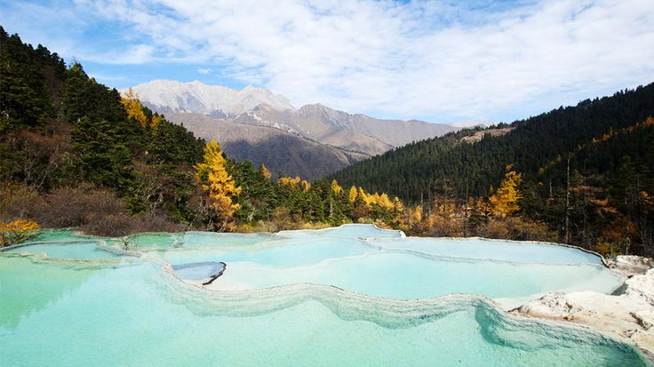 Sichuan, ChinaWater, Daily Escape, China Sichuan, Send Messages, Beautiful Places, Asia, Shared Photos, Huanglong Valley, Sichuan China