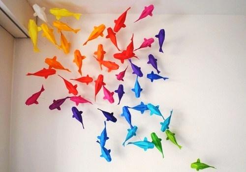 paper fish.  Cool!