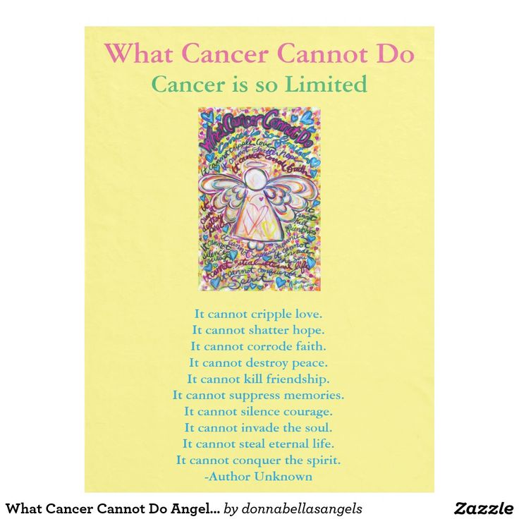 What cancer cannot do poem and spring hearts angel chemo custom fleece