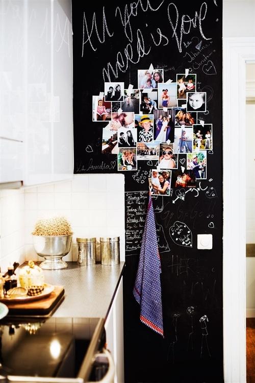 Voor op de schoolbord-verf deur..foto's..love iT!