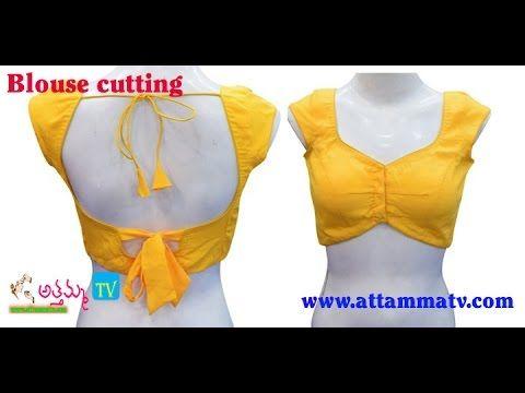 Perfect Saree Blouse Cutting Tutorial in Telugu (జాకెట్టు కట్ చేయుట) by :: Attamma TV :: - YouTube
