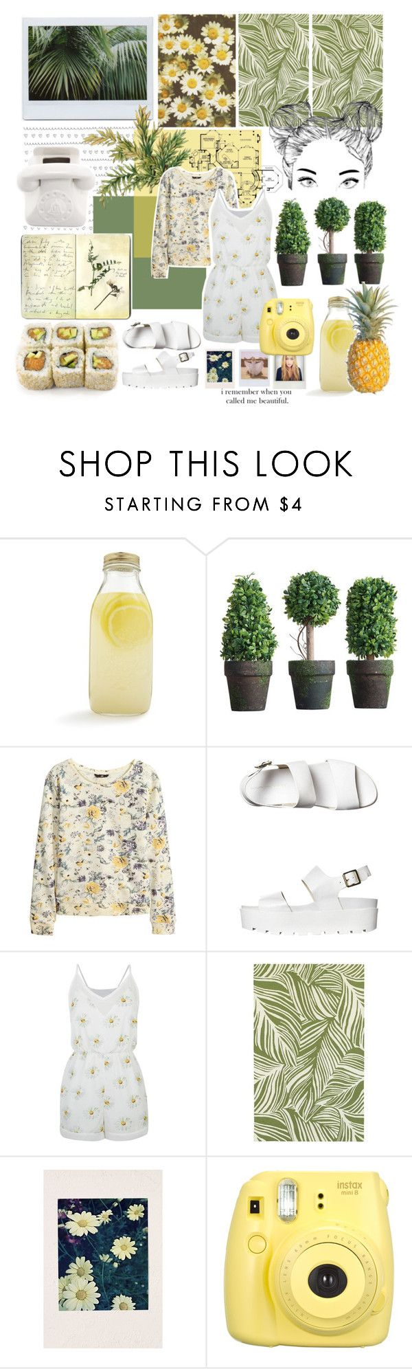 """""""i remember when you called me beautiful."""" by taspxa ❤ liked on Polyvore featuring Bormioli Rocco, Moleskine, H&M, Windsor Smith, Fashion Union, Oriental Weavers, Polaroid, Band of Outsiders, Jonathan Adler and women's clothing"""