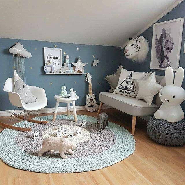Bleu Petrole Creme Et Taupe Avec Images Deco Chambre Enfant
