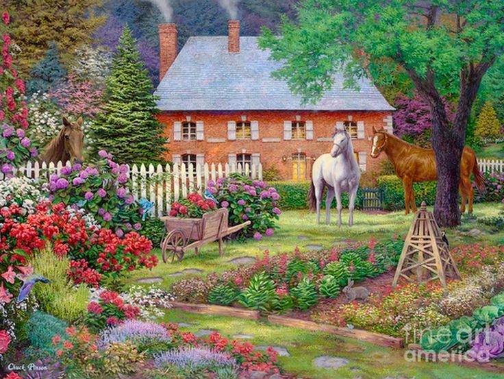 17 best images about cuadros casas de campo on pinterest - Paisajes de casas de campo ...