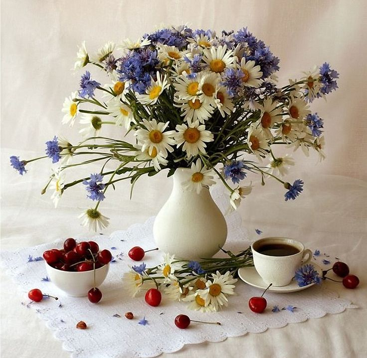 Картинка с васильками с добрым утром, тему радиоэлектроники картинки