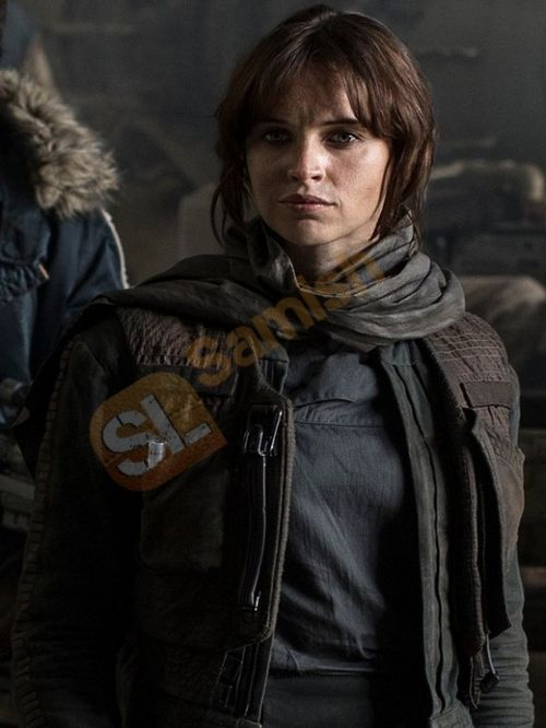 felicity jones rogue one | FELICITY JONES STYLISH ROGUE ONE JACKET on imgfave
