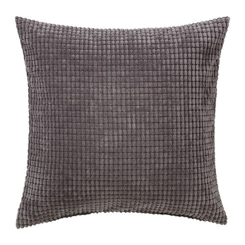 GULLKLOCKA Cushion cover, grey