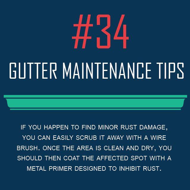Gutter Maintenance Tip #34 - Rust Spot Removal - Gutters ...