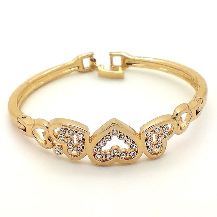Buy Beora Austrian Diamonds #Heart #Bracelet Bangle Rs.549.00 only From TrendyMela. We offer free shipping and Cash on Delivery (COD) all over the #India.