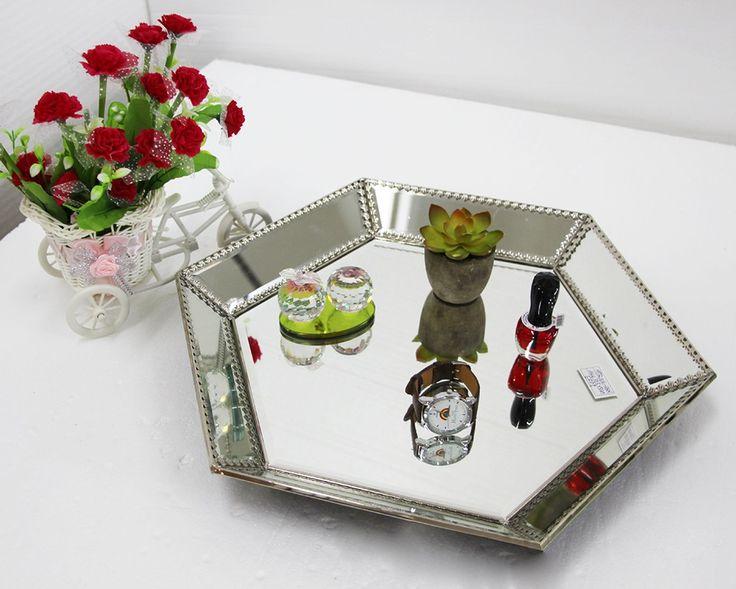 Glas gespiegelt tray modernes wein glasschale ablage D-F0019(China (Mainland))
