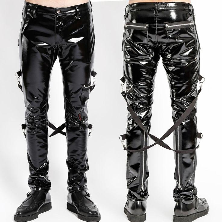Tripp Nyc Black Bondage Straps Jacket Goth Mens Size Medium Rave Cyber