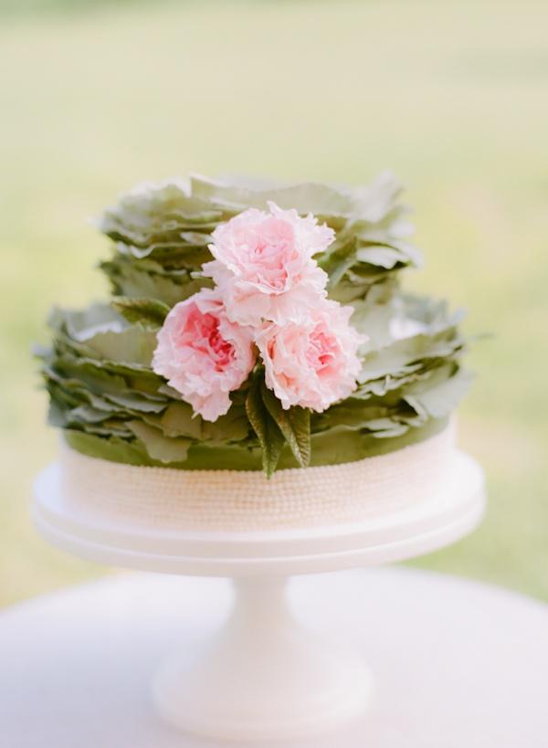 Peony And Pearls Southern Wedding Cake