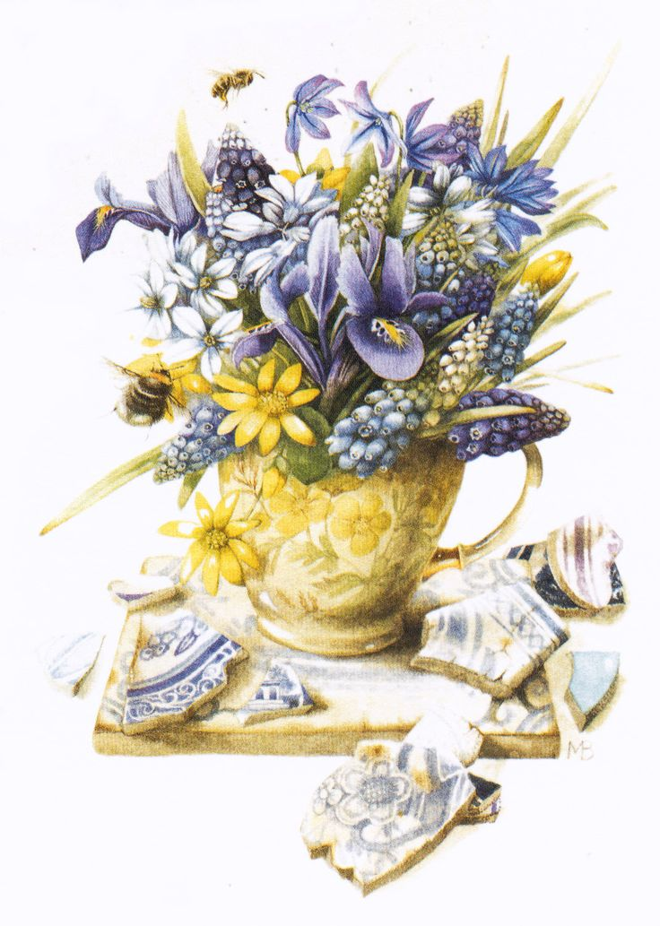 Marjolein Bastin --- I have this in a little frame;)Favorite Artists, Flower Bouquets, Bastin Art, Nature Sketches, Artists Work, Lartista Marjolein, Bastin Marjolein, Online Diaries, Marjolein Bastin