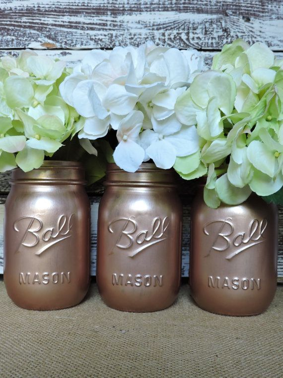 Check out this item in my Etsy shop https://www.etsy.com/listing/475150426/rose-gold-mason-jars-rose-gold-decor