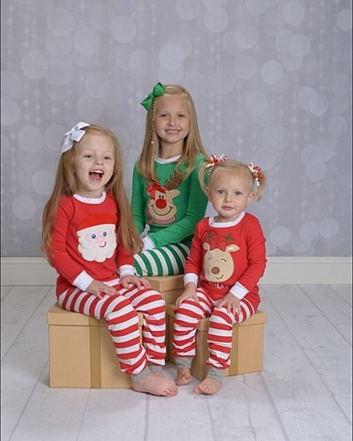 Santa Christmas pajamas top and pants sets by BirdieJamesEandS Christmas pajamas for the whole family! #christmaspajamas #christmasshopping