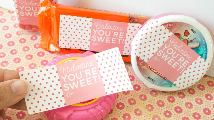 """You're Sweet"" Last Minute Valentine Candy Labels"