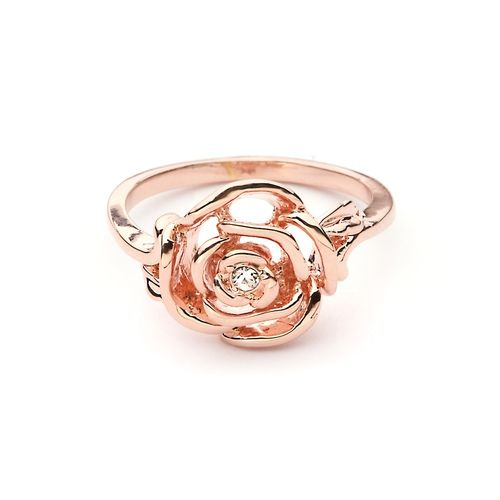 Petite Rose Ring Rose Gold Plated